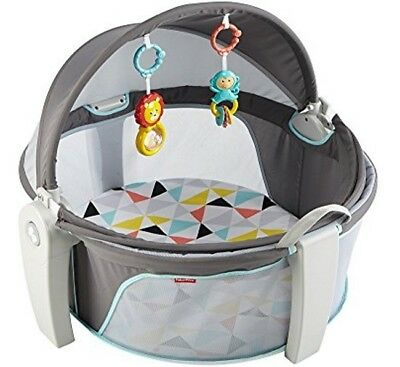 Fisher Price On-The-Go Baby Dome Infant Portable Cot Bassinet Gym Playtime Play