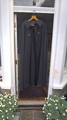 Vintage Heavy Black Cloak Tailorled by J Wippell and Co Ltd Exeter ex. cond.