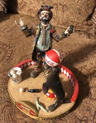 """Coca Cola Emmett Kelly """"Refreshes You Best"""" Century Edition No. 1337 Of 1998"""