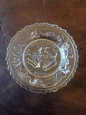 Antique Whimsical Crystal Scalloped Edge Cup Plate