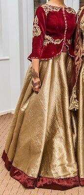 Indian Wedding Outfit/pakistani Wedding Outfit/ Top And Skirt In Size 8