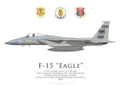 Print F-15C Eagle, 199th FS, 54th FW, Hawaii ANG (by G. Marie)