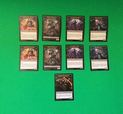 MAGIC the gathering MTG TOKEN lot double sided never played.