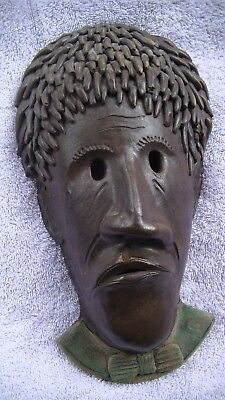 Winton-Rosa Eugene Wall Mask Face Of African American Cowpens S.c. 2001 July !!
