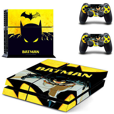 New Sony PlayStation 4 PS4 Console Batman Vinyl Skin Sticker Decal Cover