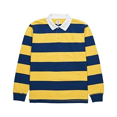 Polar - Chatman Block Stripe Mens Longsleeve Polo Navy/Yellow