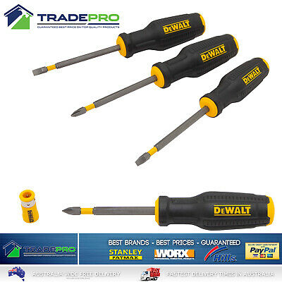 Screwdriver Set 8pc PRO Industrial Quality Tang-Thru Chrv-Van Blades Strike Cap