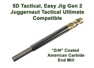 "Compatible 5D Tactical, Gen 2, Juggernaut Ultimate, 5/16"", Premium ZrN End Mill"