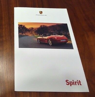 Porsche Boxster Brochure Foldout Poster Collectible Advertising