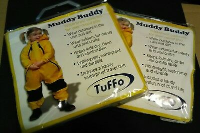 Tuffo Muddy Buddy Waterproof Coveralls Rain Suit size 12 months, Yellow NEW
