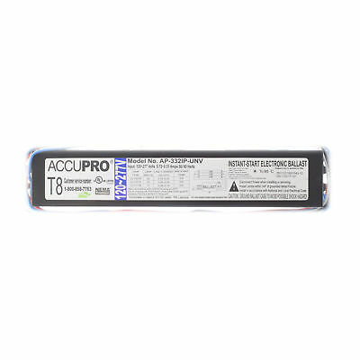 Accupro Ap-332Ip-Unv Instant Electronic Ballast, 3-Lamp, F32T8, 32W T8, 120/277V