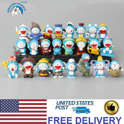 Doraemon Cat-Like Robot Anime Character Action Figure Cute Doll Gift Toy 24 PCS