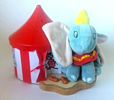 Nursery Decor Disney Dumbo Dreamy Star Soother Night Lamp by Cloud B- Blue & red