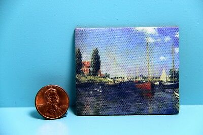 Dollhouse Miniature Monet Sailboats in the Harbor Canvas / Picture ~ G7219