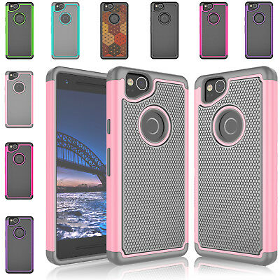 "For Google Pixel 2 (5.0"") Shockproof Hybrid Impact Rugged Rubber Hard Phone Case"