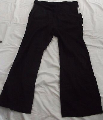 NWT Old Navy Womens Black maternity stretch pants Relaxed fit Size XL career