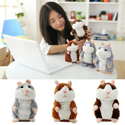 Mystery Talking Hamster Repeats Recording Electronic Pet Plush Buddy Doll Toys