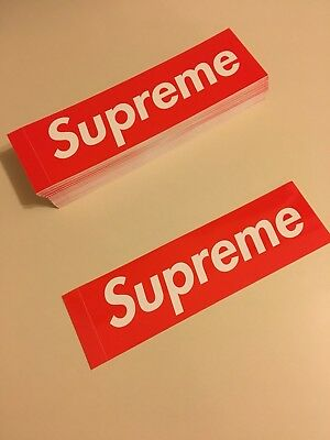 """Supreme Box Logo Stickers 100% Authentic (Buy 2 Get 1 Free!) 7.5""""In ,2.25""""In"""