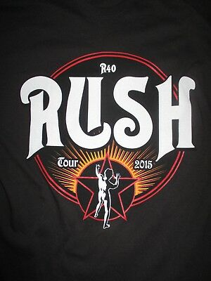 """2015 RUSH """"R40"""" North American Concert Tour (XL) T-Shirt GEDDY LEE PEART LIFESON"""