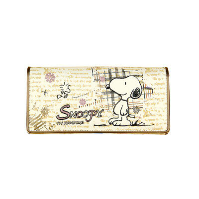 New Peanuts Snoopy PU Leather two folding Wallet Purse W45 free shipping