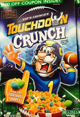 Limited Edition Cap'n Crunch's Touchdown Crunch Cereal