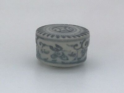 HOI AN HOARD  Small Cylinder Box  #240427, Recovered Shipwreck c1480