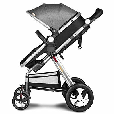 Besrey 2 in 1 Newborn Baby Stroller for Infant Folding Convertible Baby Carriage