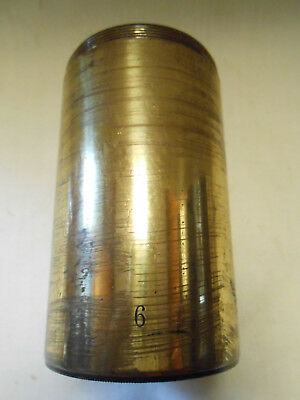 Darlot Gem Petzval Brass Lens.6. Length: 87.5mm, Lens Diameter: 40mm, F.L.: 7""