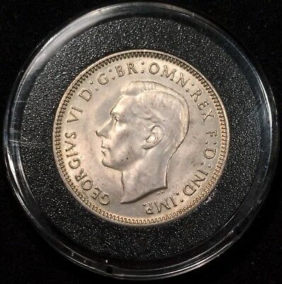 Australia Shilling, 1944 S BU Uncirculated GEM Sterling SILVER Coin