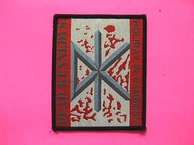 Dead Kennedys Vintage Woven Sew-On Patch Uk Import Holiday In Cambodia