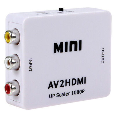 HDTV Mini Composite 1080P HDMI to RCA Audio Video AV BīBS Adapter Converter Bī