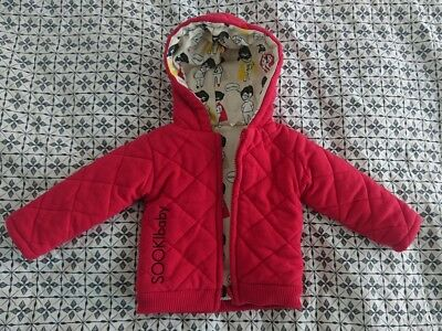 Babies Red Reversible Jacket Coat Size 0 Sooki Baby
