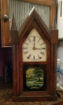 Brewster and Ingraham Steeple Clock!!! Iron Backplate!! 30hour!! Runs great!!!