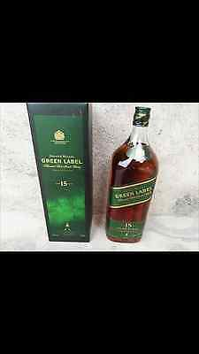 VERY RARE Johnnie Walker Green Label PURE MALT 1.5 Litre Discontinued