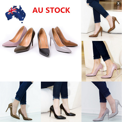 AU Women Stiletto Sandals Pointy Toe High Heels Pump Shoes Formal Office Shoes