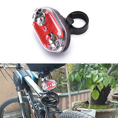 New Bright Bike Cycling Bicycle 9 LED Flashing Light Lamp Safety Back Rear Tail&