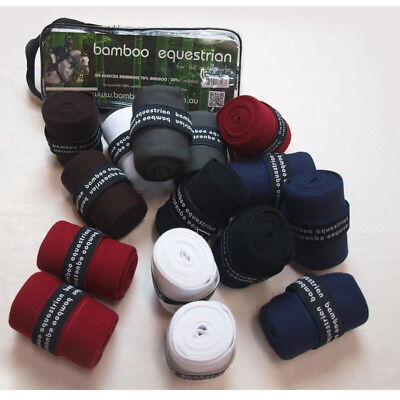 NEW Bamboo Equestrian Horse  Exercise Warp Bandages Red 2M