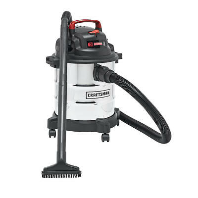 NEW Craftsman 5 Gallon 3 Peak HP Stainless Steel Wet/Dry Vac