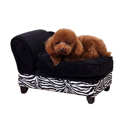 PawHut Luxury Pet Sofa Storage Dog Chaise Puppy Cat Kitten Lounger Indoor Couch