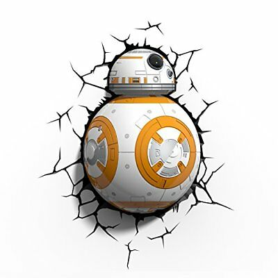 3D LIGHT FX 3DFX-02015 STAR WARS EP7 BB8 LEAD DROID LAMPADA LED CON TIMER Nuovo