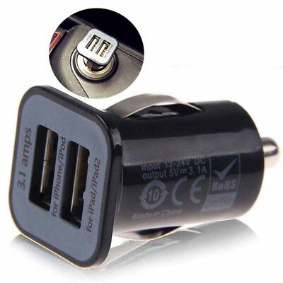 3A Mini Dual 2 Port USB Car Charger Adapter Cigarette Lighter for Phone