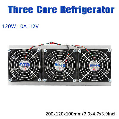 3 Core Semiconductor Cooler Radiator Thermoelectric Peltier Water Cooling Set JS