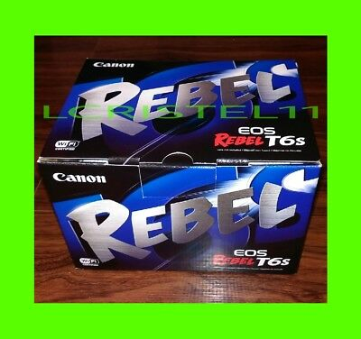 NEW - Canon EOS Rebel T6s DSLR 24.2mp Camera (Body Only) NFC Wi-Fi CMOS DIGIC 6