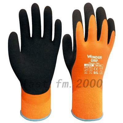 Hot Wonder Grip WG-338 EN388 THERMO Plus Latex Waterproof & Warm Gloves