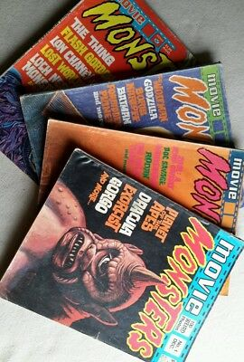 Horror Magazines. ' Movie Monsters' #1-#4. 1974/75. Good cond.