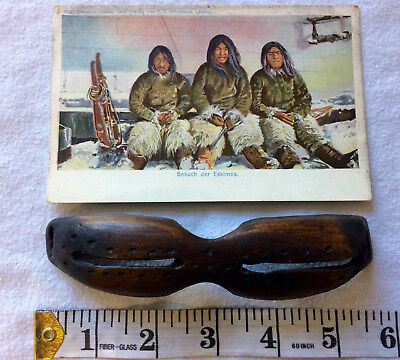 Old Eskimo Inuit Snow Goggles - Very Rare !!!
