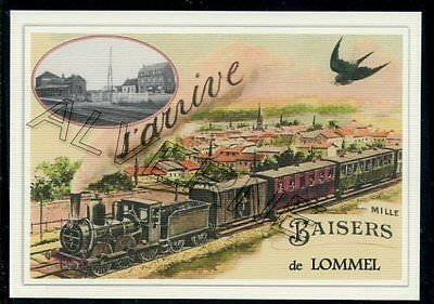 LOMMEL-- ... ... TRAIN  .. ...  souvenir creation moderne serie numerotee