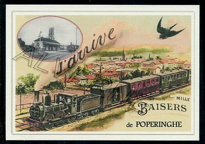 POPERINGHE   - train souvenir creation moderne - serie limitee numerotee