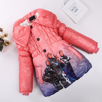 Giacca Bambina Piumino Viola - Girl Purple Winter Jacket - Frozen - A 00190 V