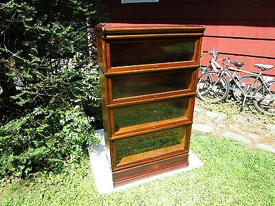Antique Globe Wernicke C-1910 Tiger Oak 299 4 Sectional Barrister Bookcase